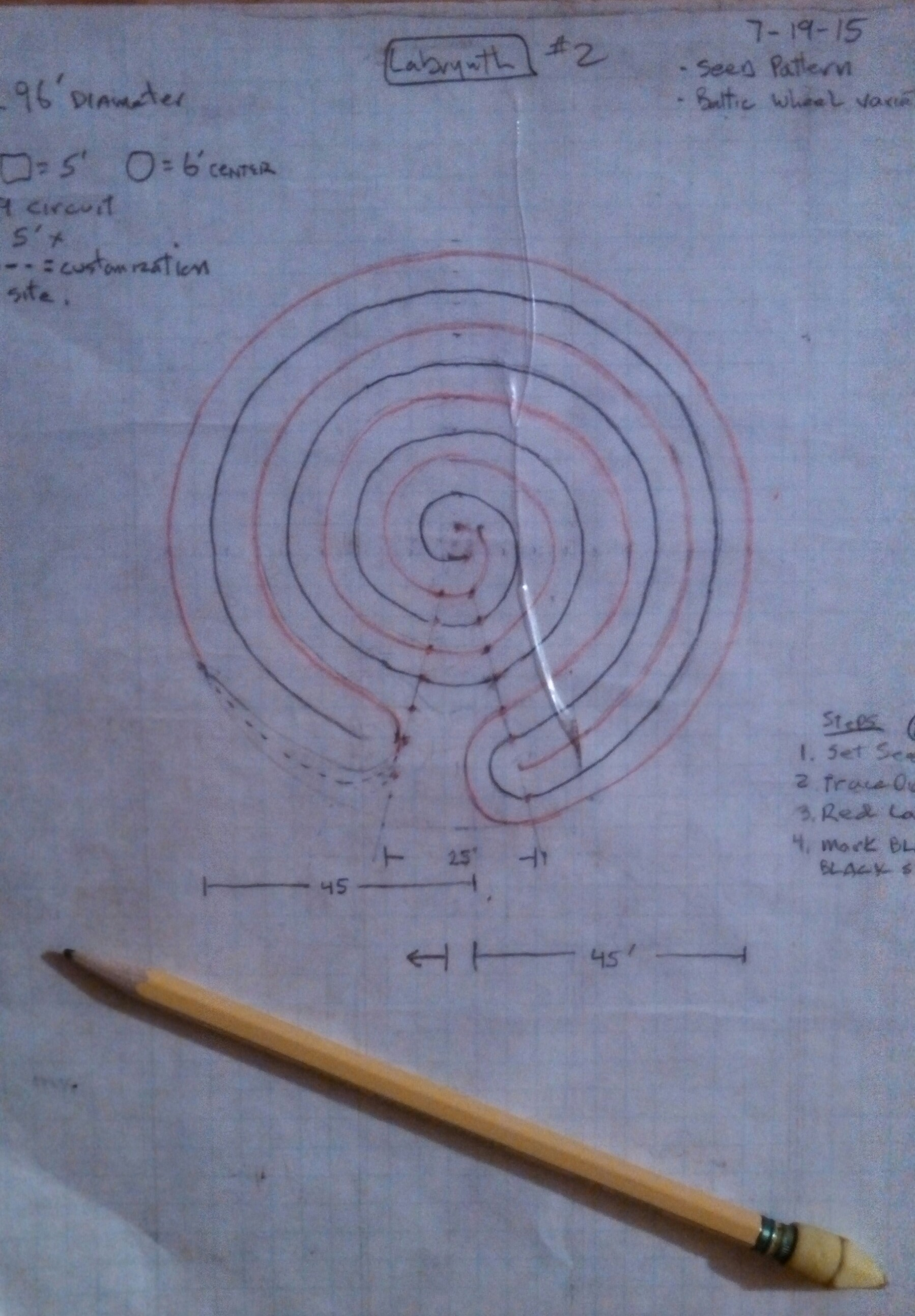 Sage Mountain Center labyrinth blueprint